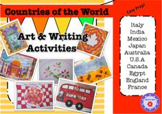 Countries of the World- Art & Writing Activities from ResourceRose on TeachersNotebook.com -  (33 pages)  - Use these creative, fun and easy to prepare activities to complement your Countries of the World Theme. 10 art and 10 writing activities included.