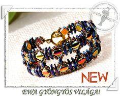 Ziven beaded bracelet PDF pattern by EwaHotBeads on Etsy