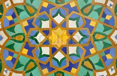 Oriental mosaik dekoration i Casablanca, Marokko