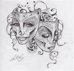 Tattoos Happy Drama Masks Theatre Tattoo