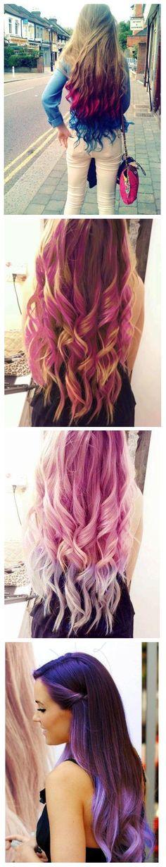 beautiful Long colored hair