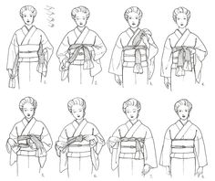 """kimonocollective: """"Basics for tying an obiage. Kimono Japan, Yukata Kimono, Japanese Kimono, Geisha, Japanese Festival, Japanese Costume, Japanese Textiles, Oriental Pattern, Japanese Outfits"""