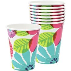 Day in Paradise Cups 8ct - Party City