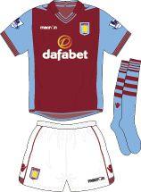 Aston Villa Football Kits Home Kit 2013-2014