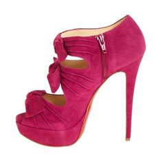 Suede stiletto.  I have this in royal blue!  HOT