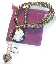 Victorian Pearl and Cameo Necklace