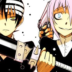 Death The Kid and Crona....they're both so cute...