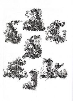 lettres cadeaux de l'alphabet de Amphiareo Vespasiano