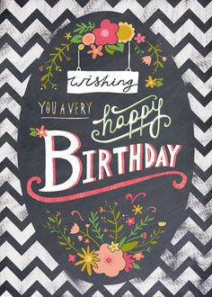 Love this design by Felicity French! #compartirvideos #felizcumple #imagenesdivertidas
