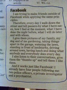 Nosso amigo #facebook sendo ele mesmo na vida real. #facts