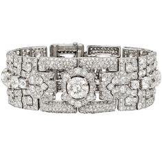 Honeymoons & Destination Weddings  www.cori.allabouthoneymoons.com  Cartier Art Deco Diamond Panel Link Bracelet
