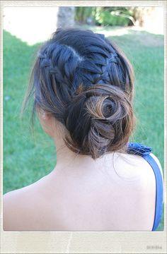 wedding updo #hairstyle #braid #updo