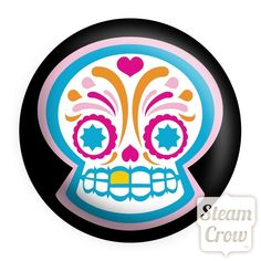 Sugar Skull Button, Steam Crow