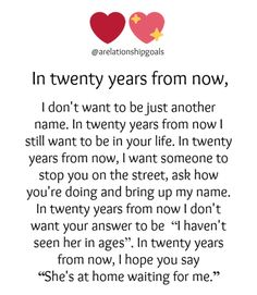 In twenty years from now,