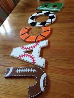 Do It Yourself Wall Crafts To Decorate Your Home tedswoodworkingteds woodworking. - - Do It Yourself Wall Crafts Boy Sports Bedroom, Baby Boy Rooms, Baby Boy Nurseries, Baby Room, Sports Themed Nursery, Sports Themed Bedrooms, Girl Rooms, Sport Craft, Ideias Diy