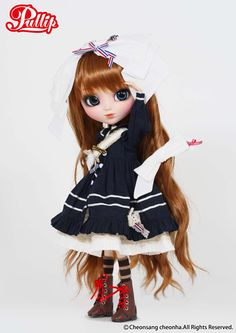 Pullip Merl is ready for the open seas! All deck out from head to toe in a very adorable Nautical outfit. I wonder what new  adventures await her. $103.99 #pullip #merl #fashion dolls