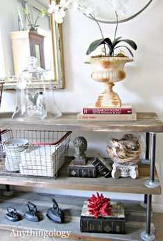 Anythingology: DIY Industrial Shelves