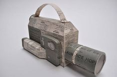 Paper Video Camera by Jennifer Collier Old Paper, Paper Art, Paper Crafts, Cardboard Crafts, Jennifer Collier, Paper Camera, Paper Video, Paper Engineering, Everyday Items