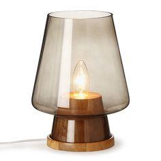 Lampe avec abat jour alu cuivre h56cm cuivre noir mahara for Lampe deco interieur