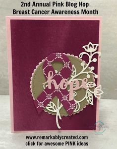 2nd Annual Ultimate Pink Stampin' UP! Blog Hop - RemARKable Creations