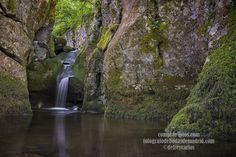 Parque natural de Redes en Asturias, Spain. Cascada en las rocas. Waterfall in rocks.