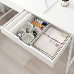 Small Storage, Storage Boxes, Rangement Makeup, Ikea Family, Polypropylene Plastic, College Dorm Rooms, Desk With Drawers, Beige, Desk Accessories