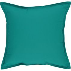 Sunbrella® Harbor Blue 22 Sq. Outdoor Pillow in Outdoor Pillows | Crate and Barrel
