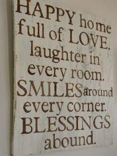 Happy home wall art DIY