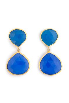 Cerulean Droplet Earrings by Coralia Leets