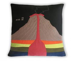 Oh my goodness!! I need to learn how to make me one of these! Geology Pillow for your office