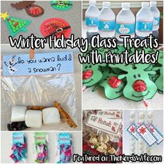 Printable Class Treats for Winter Holiday Parties featured on 50 Winter Holiday Class Party Ideas! From store-bought snacks to homemade treats, to non-food goodies, this list has everything you need for Christmas classroom parties.