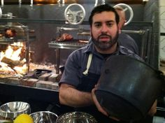 Mark Liberman at TBD with a potjie