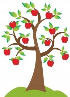 """Una bella página del Zohar (II-208 b), apoyándose en el Talmud (Berajoth 43 b), nos enseña que: """"el olor es el sustento del alma"""". ¿De qué olor no están hablando? Los comentarios de los sabios nos … Apple Tree Drawing, Tree Illustration, Illustrations, All About Me Crafts, Reading Tree, Apple Kitchen Decor, Graphic Design Brochure, Tree Templates, Diy Crafts To Do"""