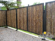 Cali Bamboo Fencing - 6ft x 8ft Black 1 Inch Diameter - Cali Bamboo