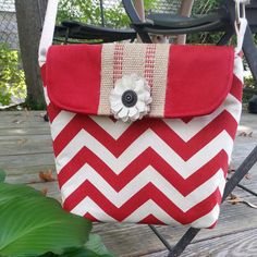 Handbag Purse Crossbody Bag Hip Bag Red and by BirdOnAWireBags, $35.00