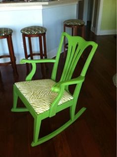 Fun Zebra accent rocking chair