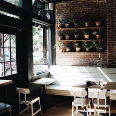 Coffee shop design, cafe new york, brooklyn new york, new york city, new yo Cafe New York, New York Bar, New York City, Cafe Nyc, Cozy Coffee Shop, Coffee Shop Design, Coffee Shops, Visual Merchandising, Cafe Interior