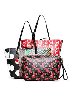 DESIGUAL | Γυναικεία Shopper bag διπλής όψεως Lola Pacth Capri Desigual | notos
