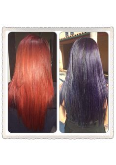 Over the red, went purple instead. Love! work by #JoLsalon