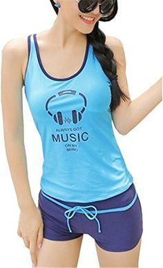 Bathing Suit Tragarse® Swimwear For Big Girls Tankini T-Shirts+Shorts