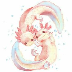 I love how axolotls look like  baby dragons that are constantly smiling