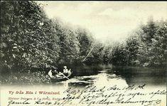 Värmland Eda kommun Vy från Vrångselven vid Eda Brunn Utg Hjalmar Petersson brukt 1903
