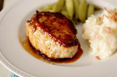 Easy apricot glazed pork chops - could be made paleo friendly