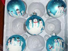 Fingerprint Christmas Ornaments | Christmas fingerprint Ornaments My little guy and I made them last ...