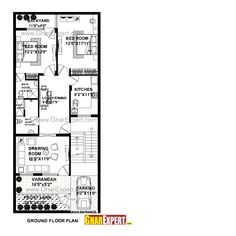 House Plan for 26 Feet by 60 Feet plot (Plot Size 173 Square Yards) - GharExpert.com