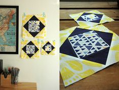 Sewing Lab: ECONOMY/ SQUARE IN SQUARE BLOCK TUTORIAL: TRADITIONAL & PAPER PIECING METHODS