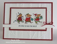 stitched shapes framelits Merry mice