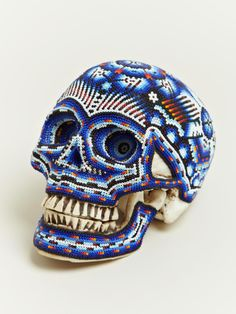 Exquisite Corpse Beaded Huichol Skull