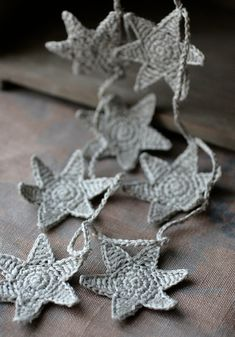 Star crochet garland
