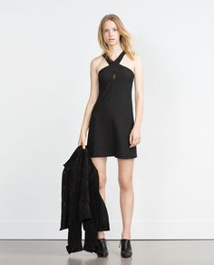 Image 1 of HALTER NECK DRESS from Zara